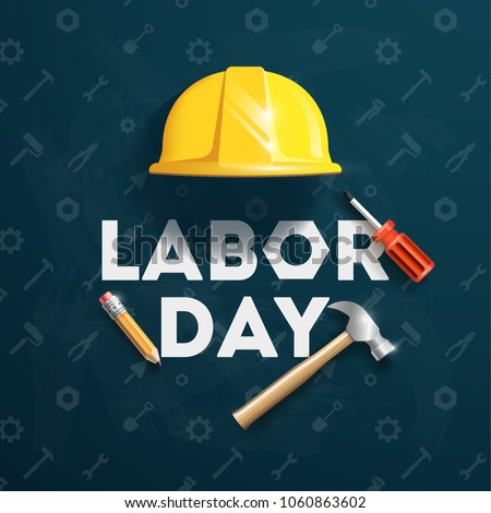 Labor Day banner, brochure, flyer design