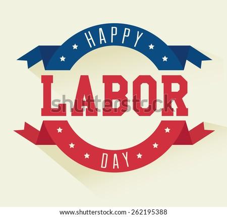 Labor day card design, vector illustration.