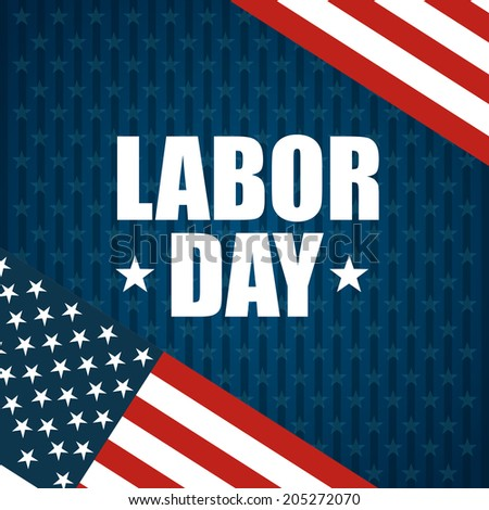 Labor day design over blue background, vector illustration