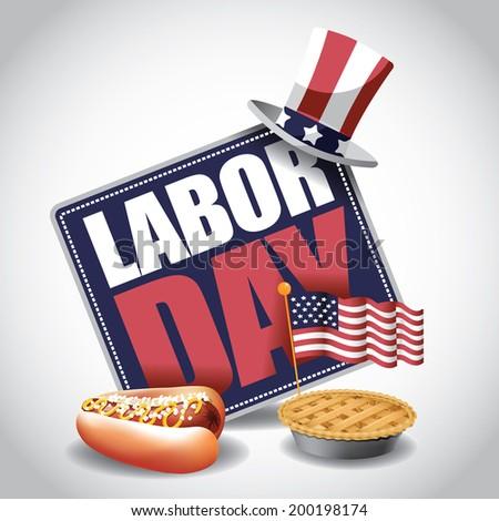 labor day icon eps 10 vector