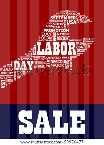Labor Day in the usa Holiday - stock vector