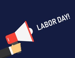 Labor Day logo Poster, banner, brochure or flyer design with stylish text 1st May Happy Labor Day on American