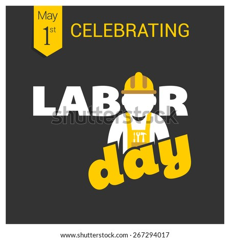 labor day logo poster  banner