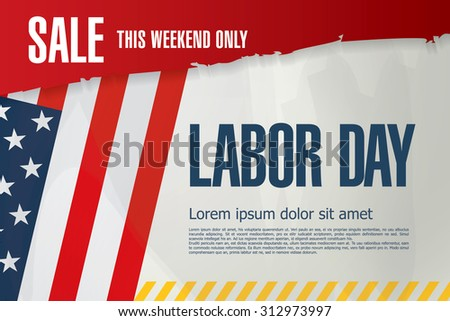 Labor day. Sale