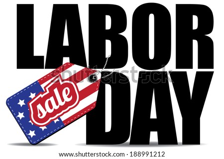 Labor Day Sale icon EPS10 vector, grouped for easy editing. No open shapes or paths.