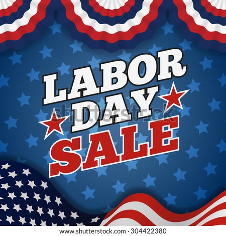 Labor day sale promotion advertising banner design. American labor day wallpaper | Vector illustration