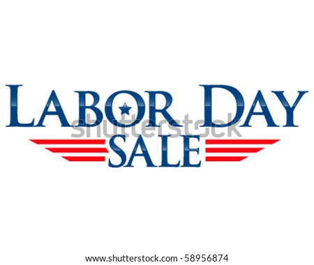 Labor day sale vector lettering