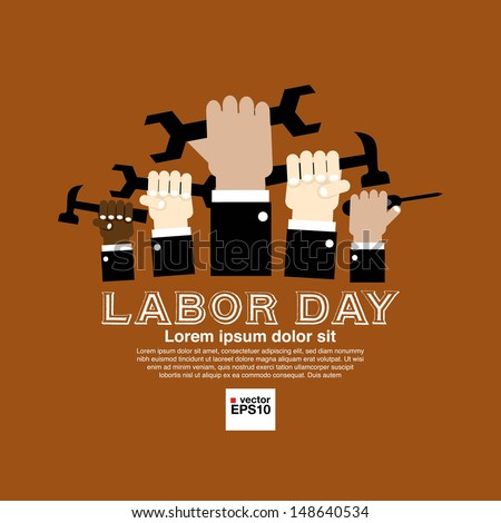 Labor day simply and clean illustration conceptual vector