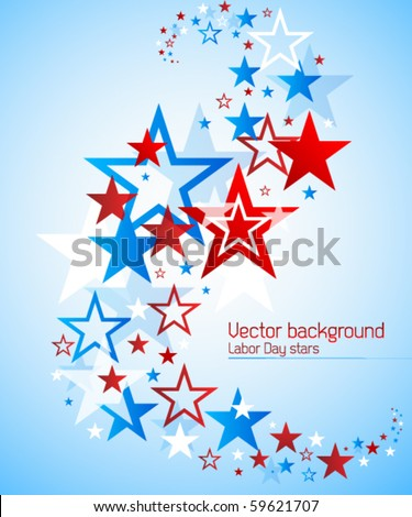 Labor day vector background - stock vector