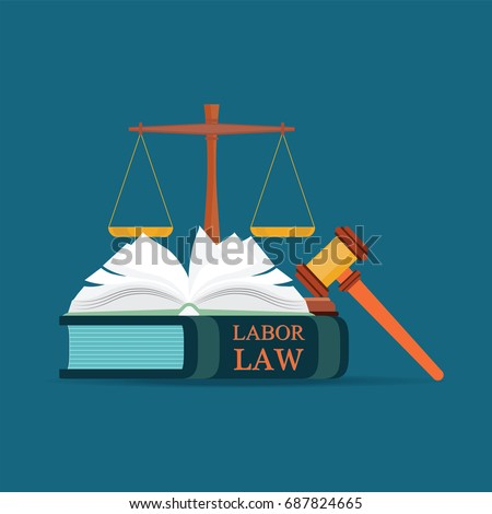 labor law books with a judges