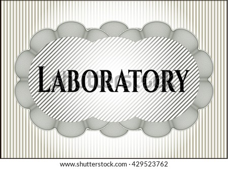 Laboratory card, colorful, nice design