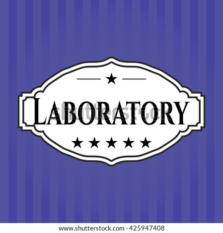 Laboratory card, poster or banner