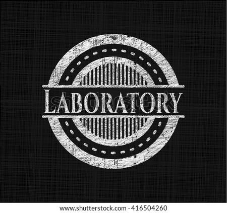 Laboratory chalkboard emblem