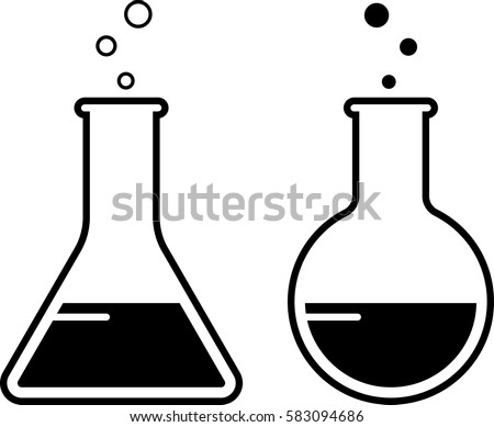 laboratory glass beaker icon