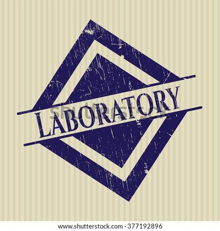 Laboratory grunge stamp