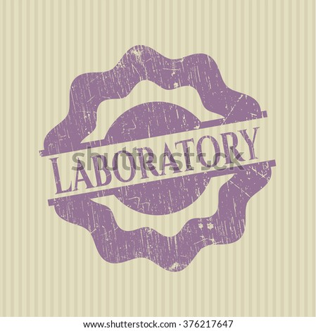 Laboratory grunge style stamp