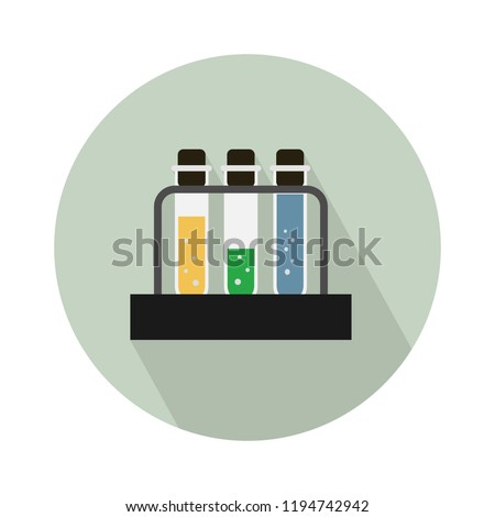 laboratory icon. vector science Lab flask - chemical laboratory, chemistry research - medical test icons
