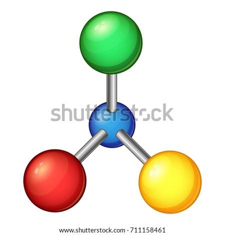 Laboratory Molecule Icon Cartoon Illustration Of Laboratory