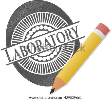 Laboratory pencil draw