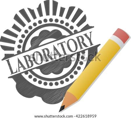 Laboratory pencil effect
