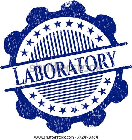 Laboratory rubber grunge stamp