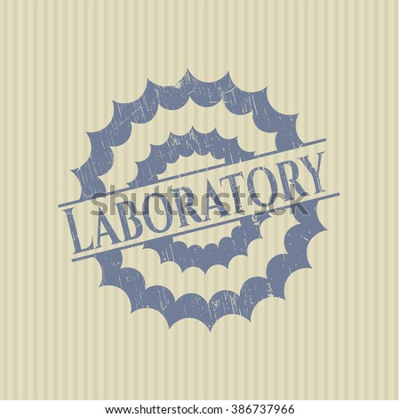 Laboratory rubber stamp with grunge texture