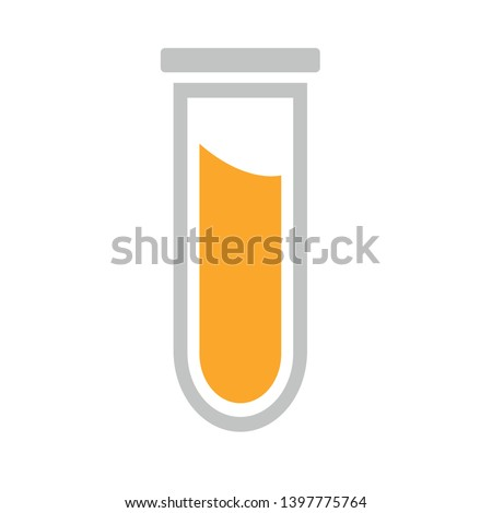 Laboratory tube icon. Chemistry and science symbol. Medical education sign. Scientific testing equipment. Laboratory research chemistry glassware. chemistry button