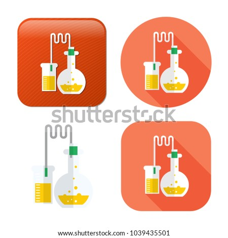 laboratory tubes icon - chemistry and science symbol - medical equipment - scientific education