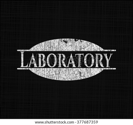 Laboratory with chalkboard texture