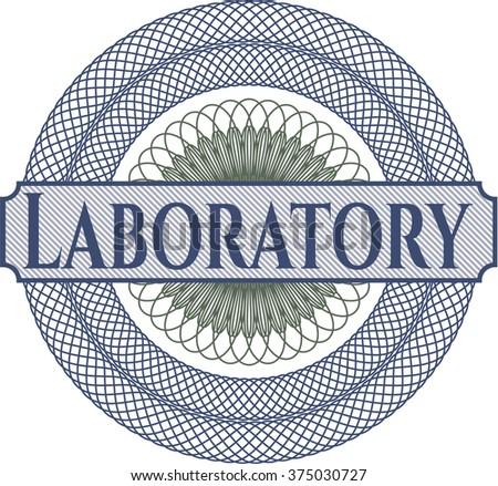 Laboratory written inside abstract linear rosette