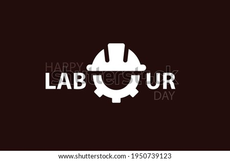 Labour Day typography concept on isolated background. 1st May celebrate on Labour Day is an annual holiday.