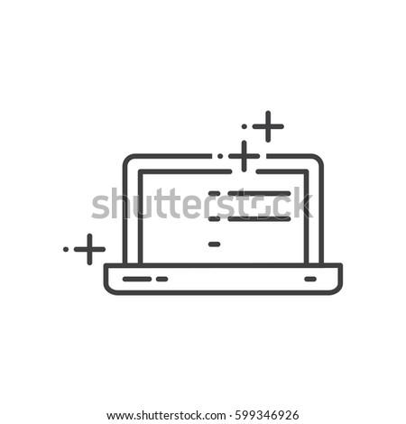 Labtop Advertisement, marketing icons
