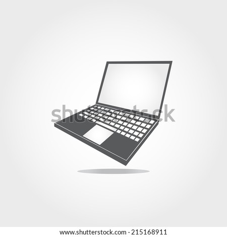 labtop icon on white background