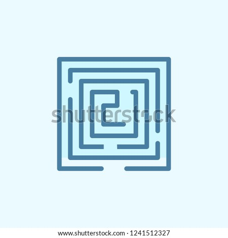 labyrinth field outline icon