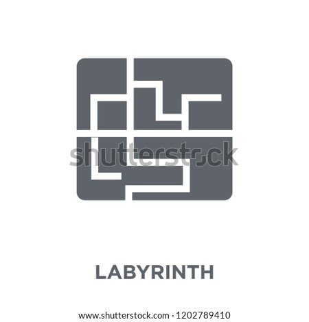 Labyrinth icon. Labyrinth design concept from Circus collection. Simple element vector illustration on white background.