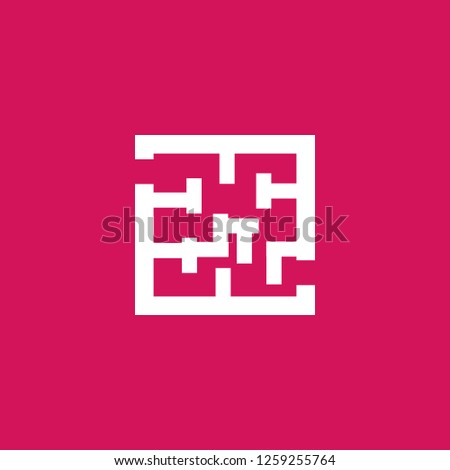 labyrinth icon vector. labyrinth sign on pink background. labyrinth icon for web and app