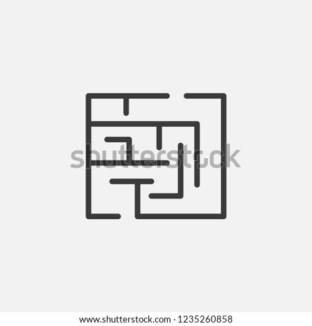 labyrinth icon vector. labyrinth symbol. Linear style sign for mobile concept and web design. labyrinth symbol illustration. Pixel vector graphics - Vector.