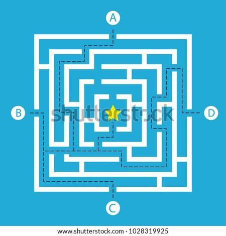 labyrinth shape design element