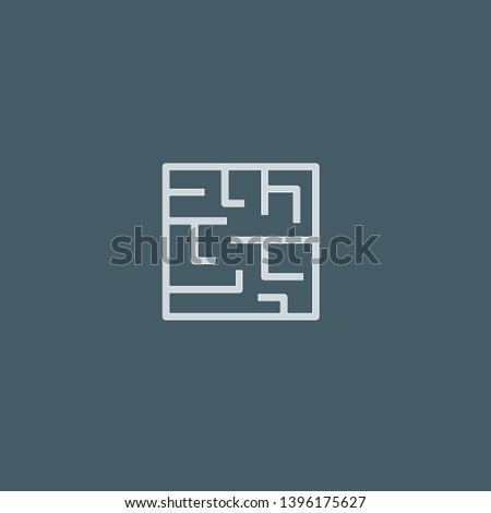 Labyrinth vector icon. Labyrinth concept stroke symbol design. Thin graphic elements vector illustration, outline pattern for your web site design, logo, UI. EPS 10.