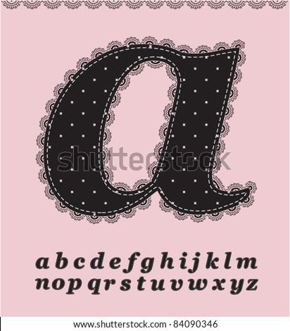 Lace alphabet set