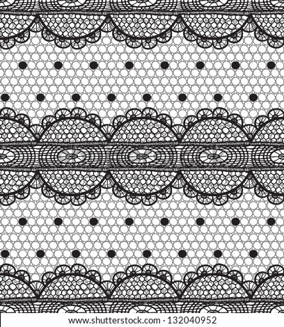 Lace and mesh seamless pattern.