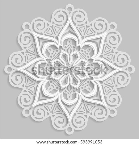 lace 3d mandala   round