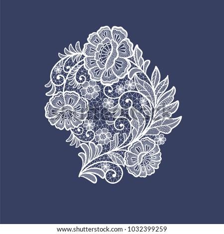 stock-vector-lace-flowers-decoration-element