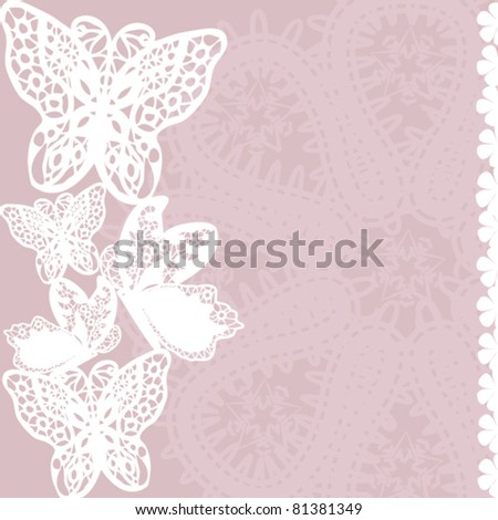 Lace pattern background - stock vector