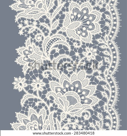 lace ribbon vertical seamless