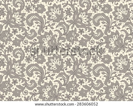 lace seamless pattern floral