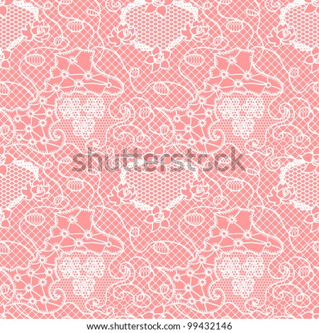 Lace seamless pattern with flowers/Lace seamless pattern with flowers on pink background
