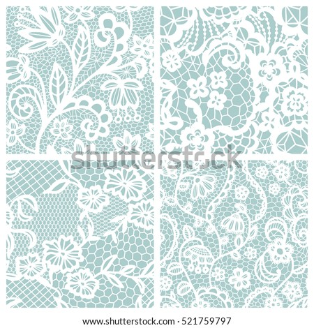 lace seamless patterns with