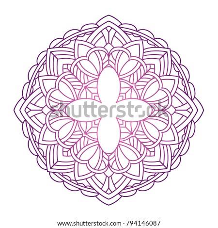 Lace shape on white backdrop