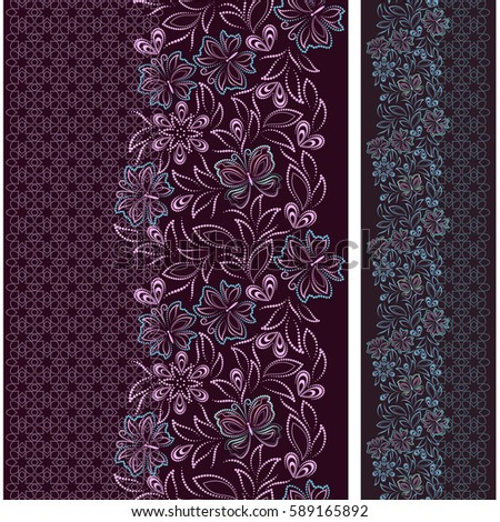 lace vertical seamless pattern